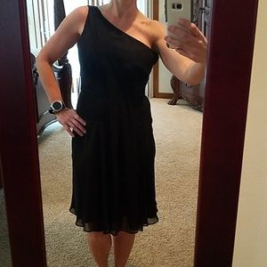 One Shoulder Black WHBM Dress